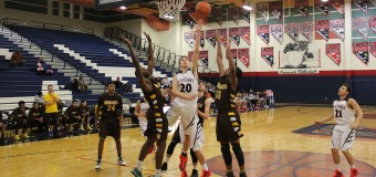 Mens' varsity basketball ends season with slam dunk