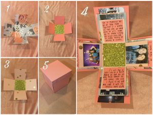 Follow these steps to create your DIY exploding box. Photo by Sage Tippie