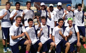 Pulling in their second straight win, the men's tennis team rocked the court at state last fall.