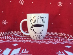 Here is a perfect example of a design to put on any caffeine-craver's mug this holiday season.