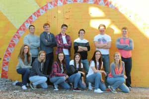 While in downtown Vegas, Coronado students smile for their Sadie's group picture. Photo courtesy of Tayler Dickerson