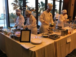 During the preparation round, culinary students assemble their winning three-course dinner meal. Photo courtesy of Mr. Piccininni