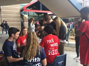 During lunch, students buy prom tickets for themselves and their dates. Photo by McKenna Cooley